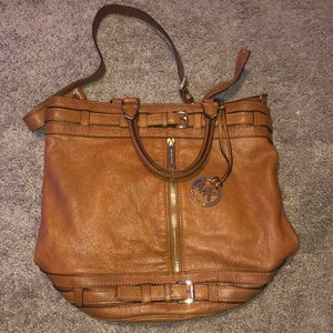 Michael Kors Brown Leather Purse with Strap